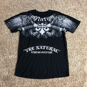 Affliction Shirt Men Small Randy Couture